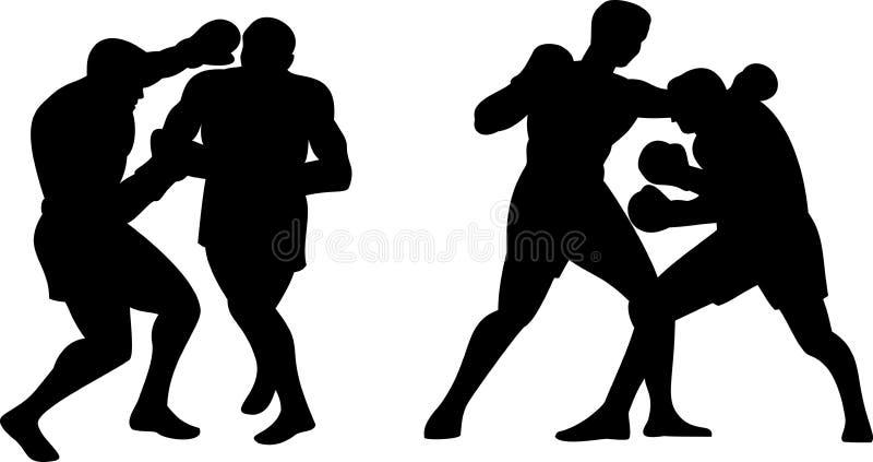 boxareförbindande knockout vektor illustrationer