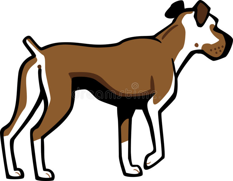 boxarehund stock illustrationer