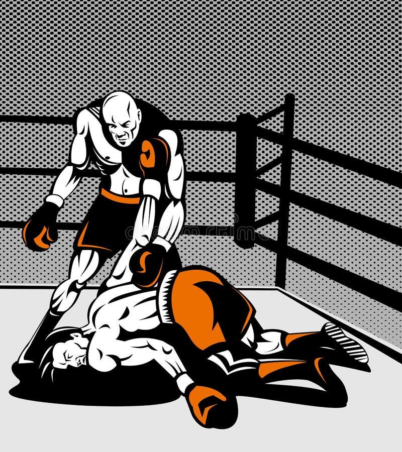 boxareknockout över plattform vektor illustrationer