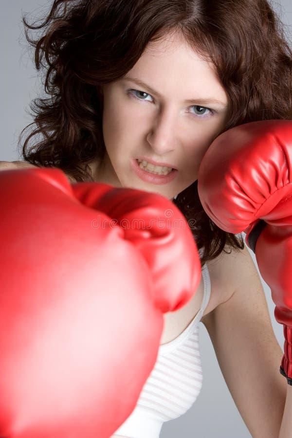 boxarekvinnlig fotografering för bildbyråer