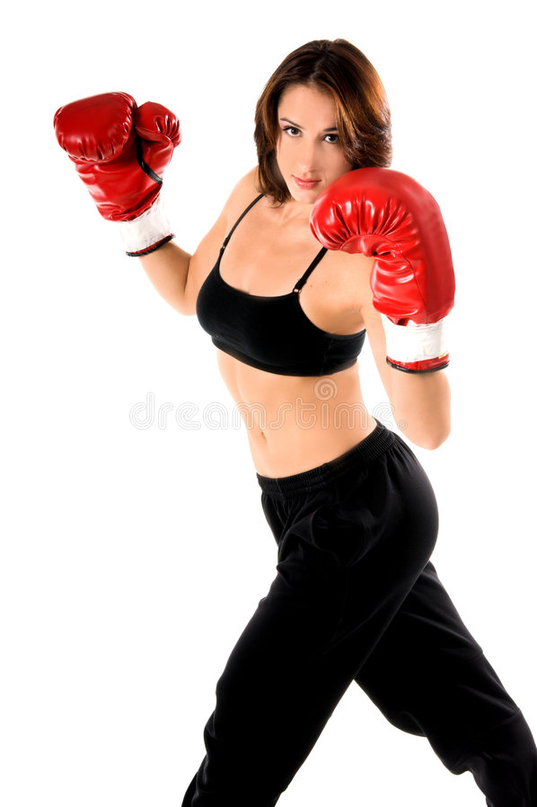 Download Boxarekvinnlig fotografering för bildbyråer. Bild av härlig - 289517