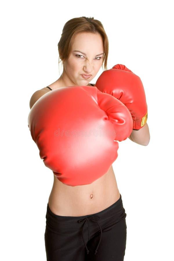 boxarekvinnlig royaltyfri bild