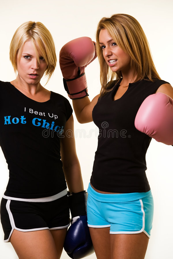 boxarekvinnor arkivbild