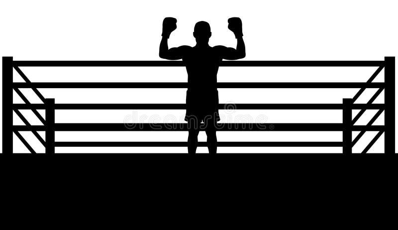 boxaremästare stock illustrationer