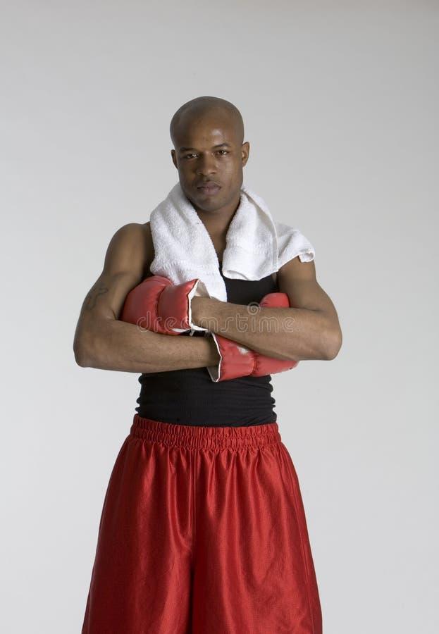 boxaremedelstanding arkivfoto