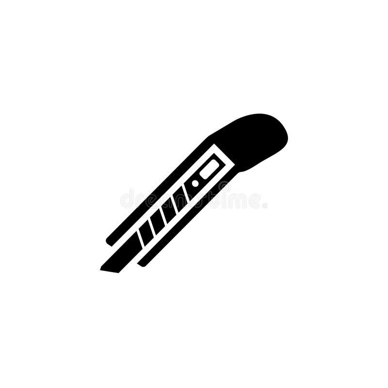 Boxas den fasta symbolen för skäraren, byggandereparationsbeståndsdelar stock illustrationer