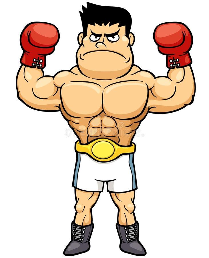 Boxas mästaren vektor illustrationer