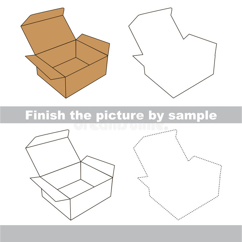 Boxas Teckningsarbetssedel royaltyfri illustrationer