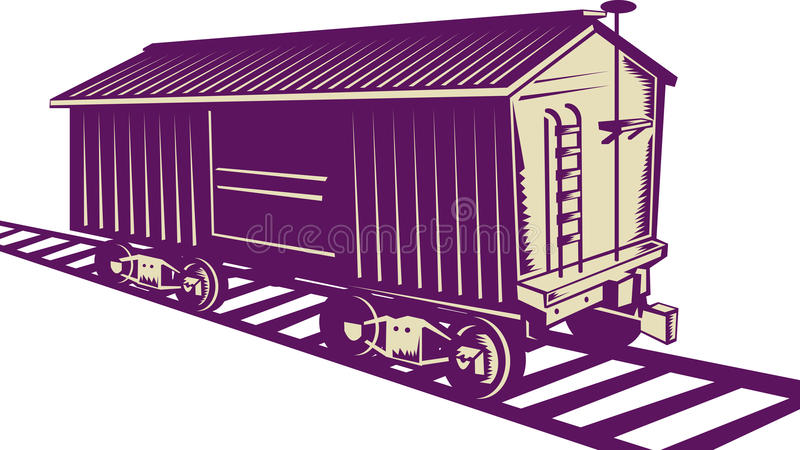 boxcar τραίνο φορτίου ελεύθερη απεικόνιση δικαιώματος