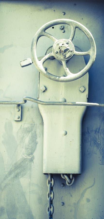 Boxcar Brake Wheel. Close up detail stock photos