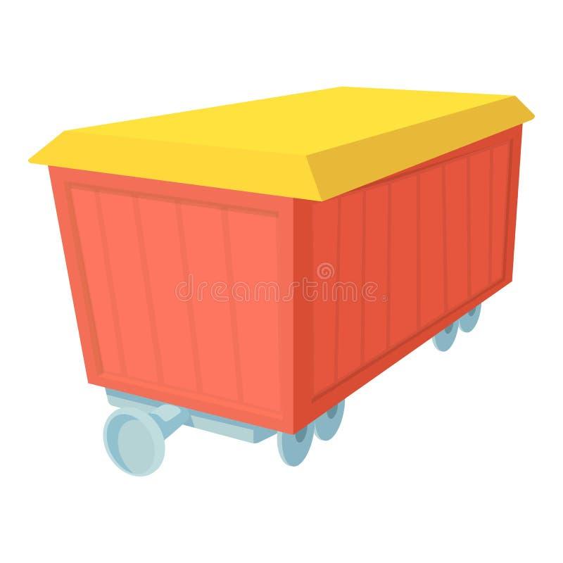 Boxcar ikona, kreskówka styl ilustracja wektor
