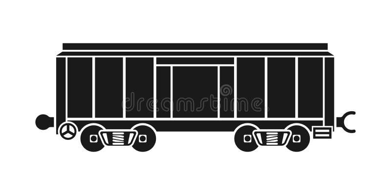 Boxcar, kolejowy furgon ilustracji