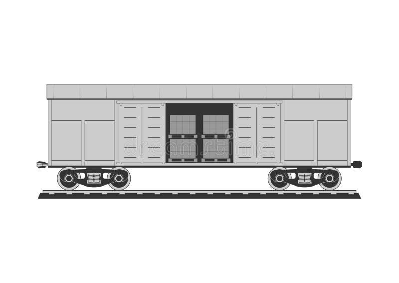 Boxcar z zafrachtowaniami royalty ilustracja