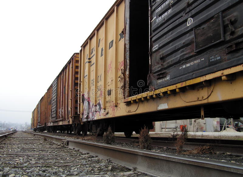 boxcars photographie stock
