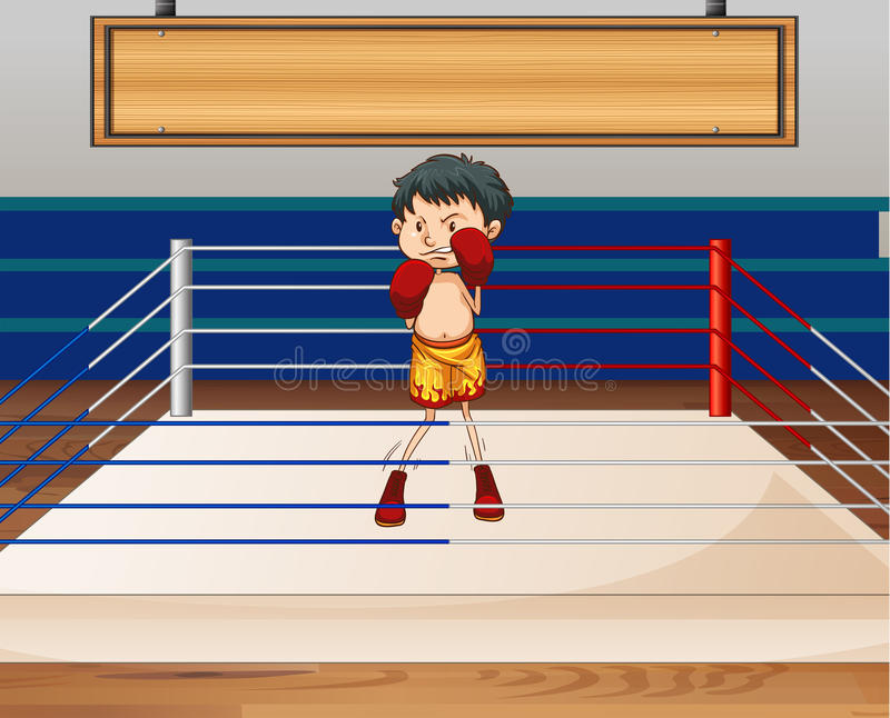 boxe illustration stock