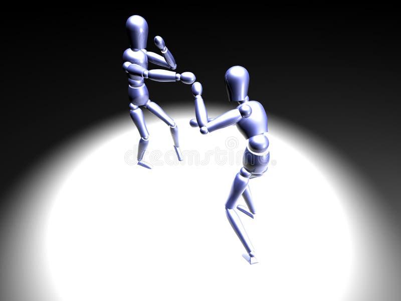 Boxe dans le projecteur 2 illustration de vecteur