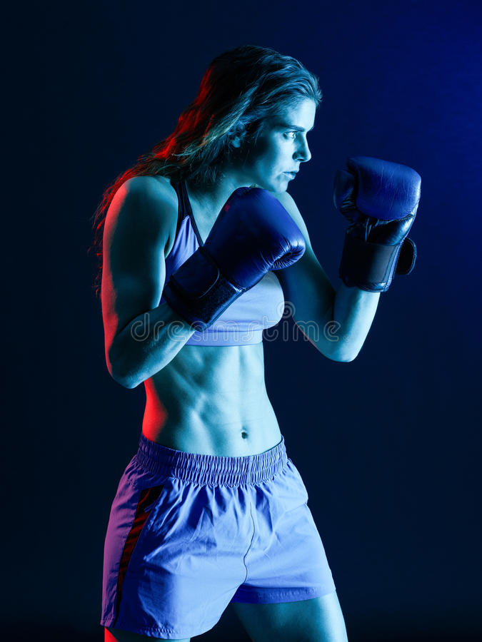 Boxe de boxeur de femme images stock