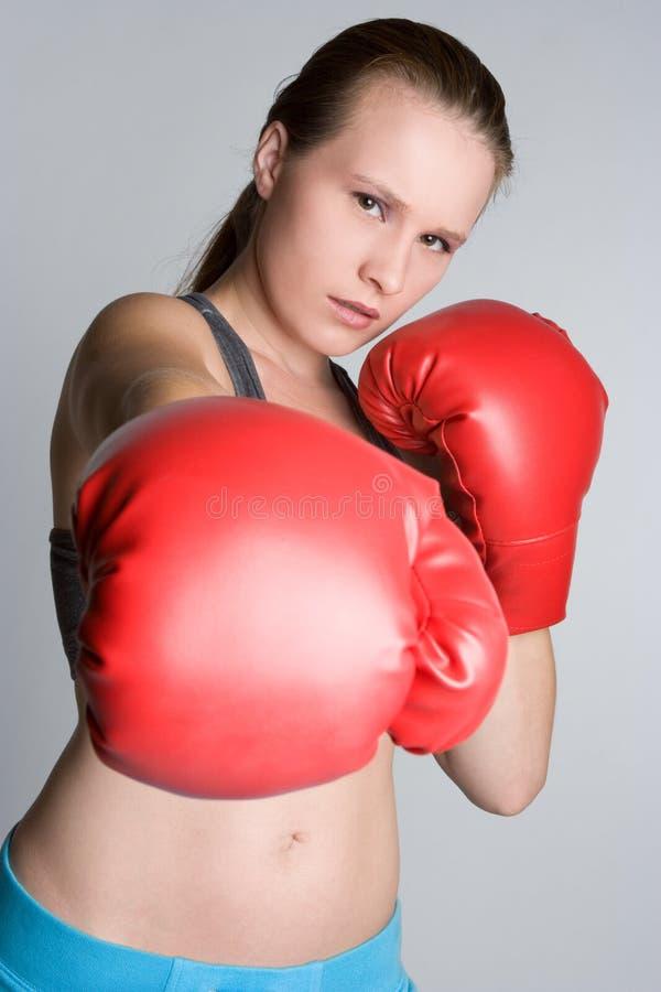 Boxe de femme images libres de droits