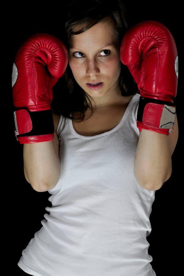 Boxe de fille photographie stock libre de droits