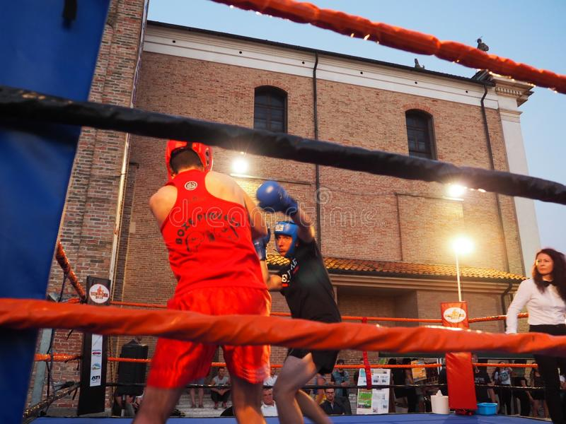 Boxe match stock images