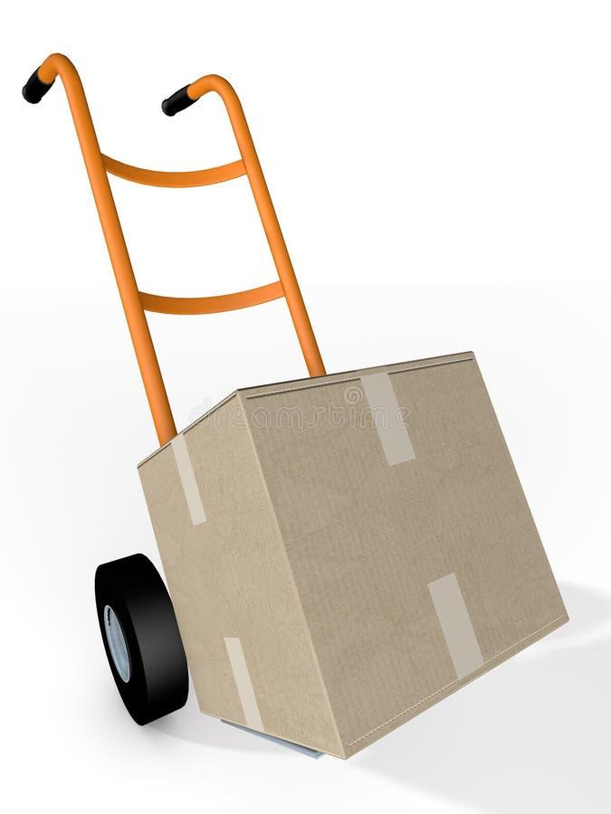 Boxe och kurir Delivery för palettlastbilar royaltyfri illustrationer