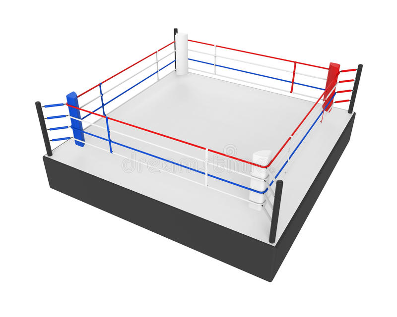 Boxe Ring Isolated illustration stock