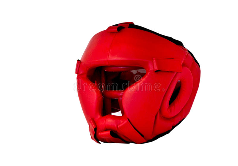 Boxe rouge de casque photo stock