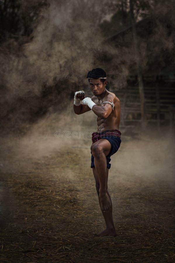 Boxe thaïe images libres de droits