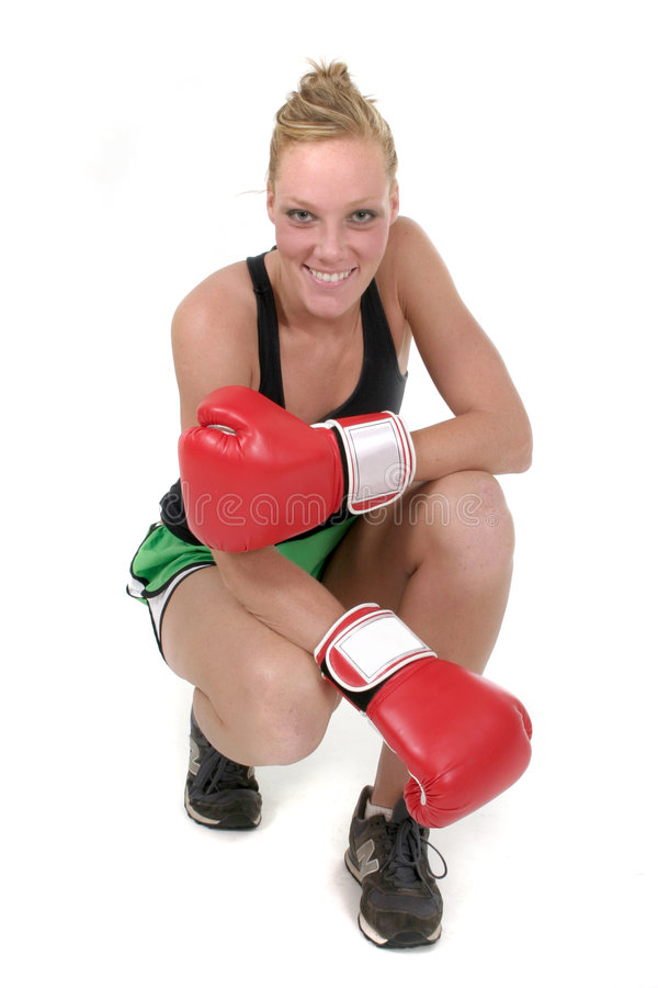 Boxeador 3 de la mujer foto de archivo