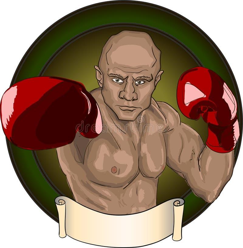boxeador ilustración del vector