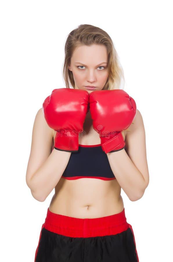 Download Boxeador de la mujer foto de archivo. Imagen de carrocería - 41917682