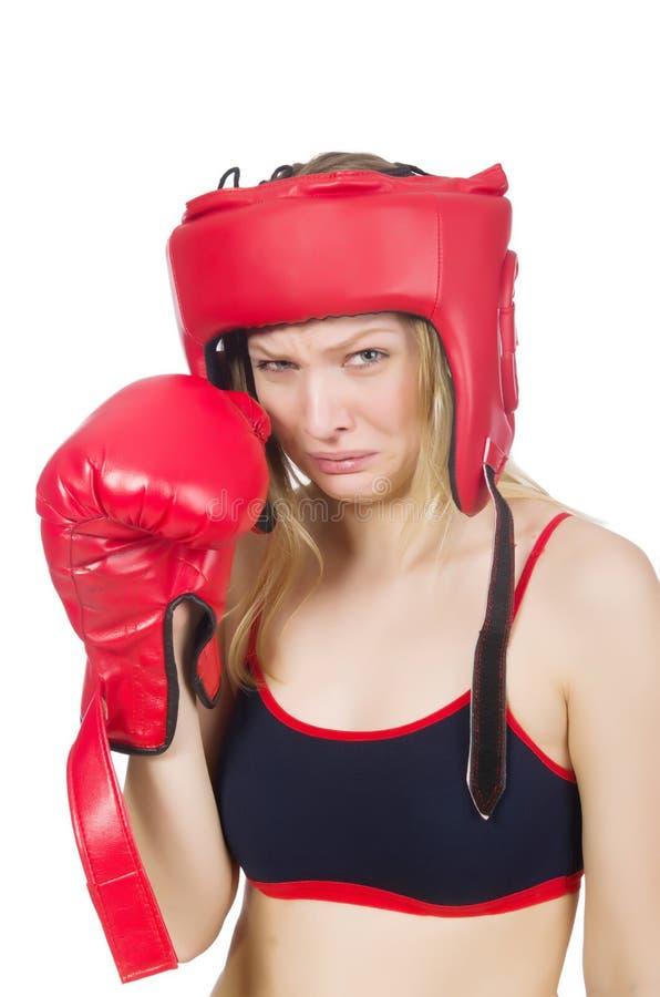 Download Boxeador de la mujer imagen de archivo. Imagen de carrocería - 41917787
