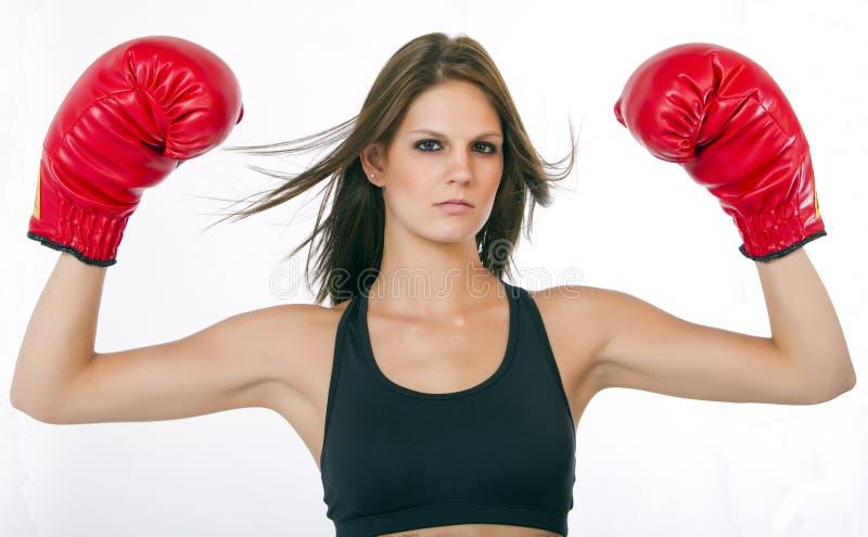 Boxeador de la mujer joven fotos de archivo libres de regalías