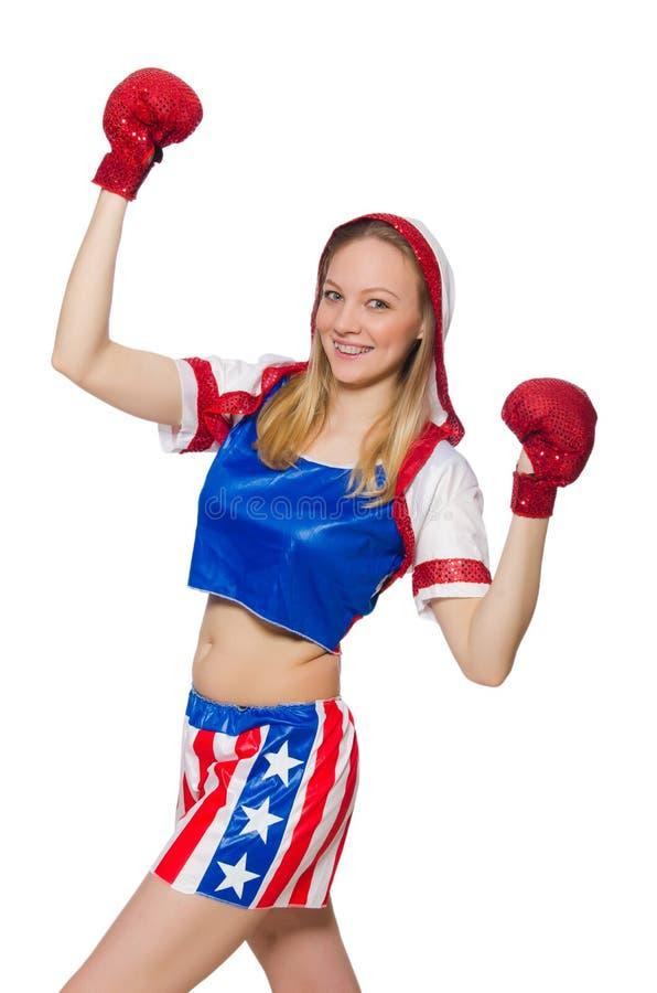 Download Boxeador De Sexo Femenino Aislado Imagen de archivo - Imagen de américa, salud: 41914691