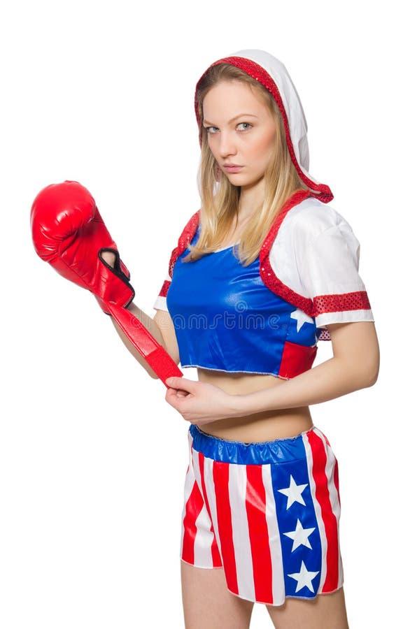 Download Boxeador De Sexo Femenino Aislado Imagen de archivo - Imagen de combatiente, ejercicio: 41914693