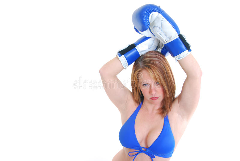 Boxeador de sexo femenino atractivo imagen de archivo