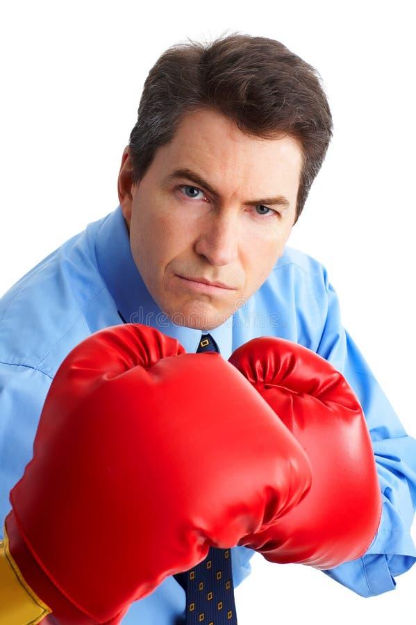 Boxeador del hombre de negocios fotos de archivo libres de regalías