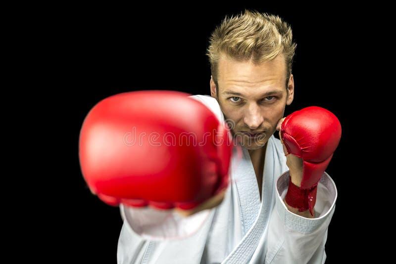 Boxeador del retroceso de los jóvenes imagen de archivo libre de regalías