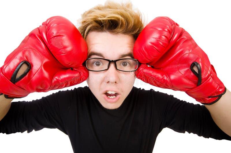 Download Boxeador divertido aislado foto de archivo. Imagen de boxeo - 41915596