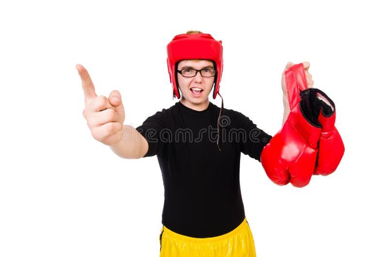 Download Boxeador divertido aislado foto de archivo. Imagen de muchacho - 41915646