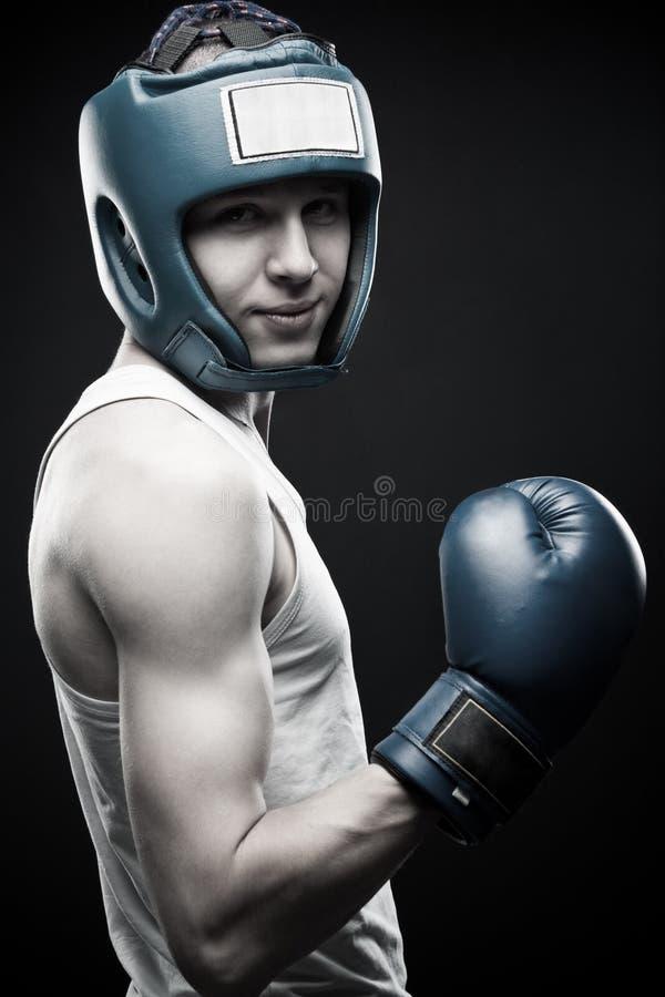 Boxeador joven imágenes de archivo libres de regalías