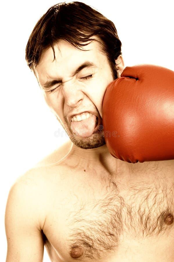 Boxeador joven divertido imágenes de archivo libres de regalías