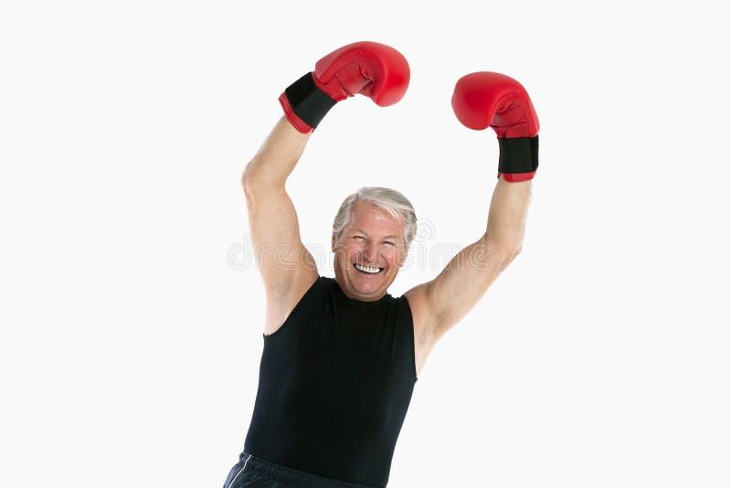 Boxeador mayor foto de archivo libre de regalías