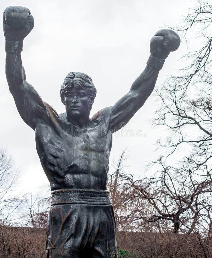 Boxeador público de Philadelphia foto de archivo