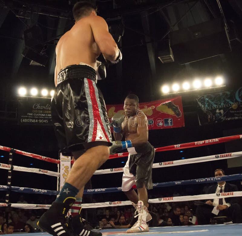 Boxeadores profesionales en Matchup fotos de archivo libres de regalías