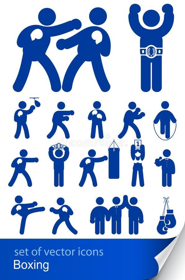 Boxende sportliche Ikone lizenzfreie abbildung