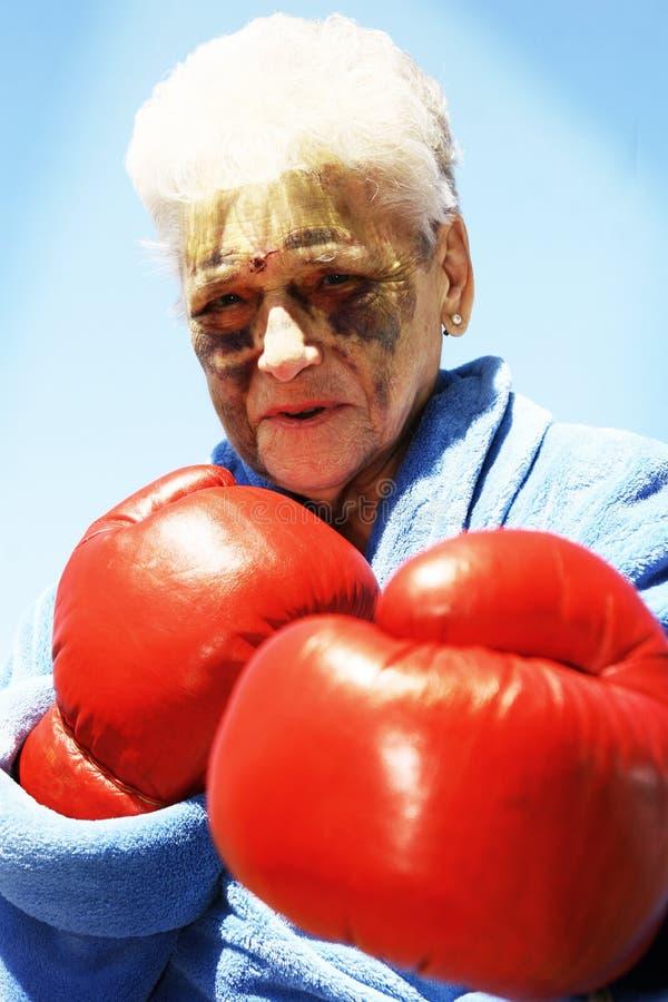 Boxender Älterer lizenzfreie stockfotos