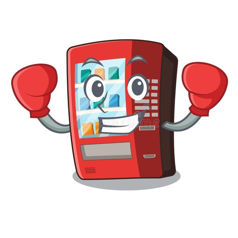 Boxender Automat in der Karikaturform lizenzfreie abbildung
