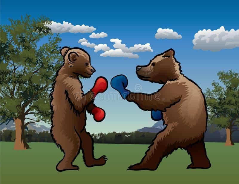 Boxender Bär lizenzfreies stockfoto