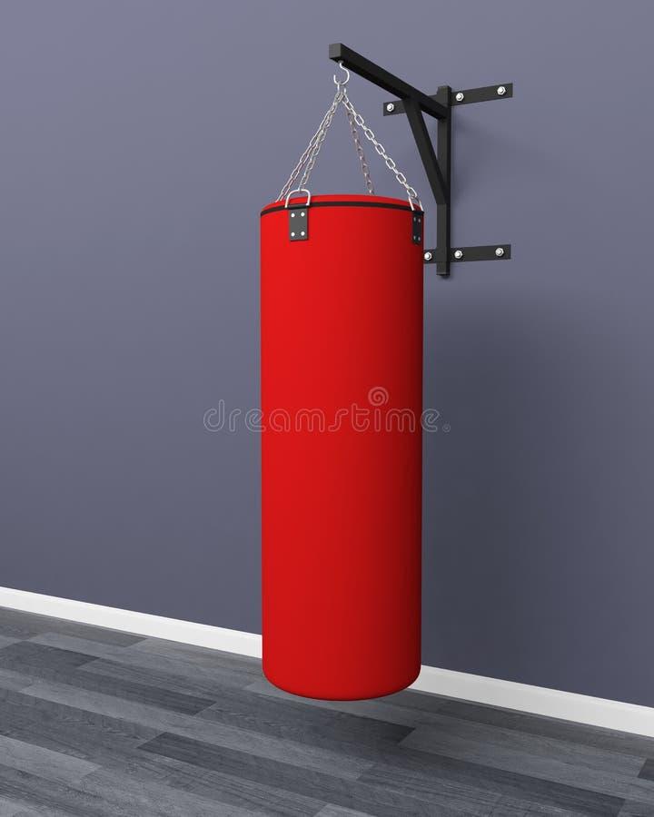 Boxender Taschensport des Sandsacks stockbild